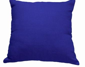 Plain Linen Cushion- Cobalt Cushion- Plain Cushion-Blue Pillow- Plain Pillow- Blue Throw Pillow- Linen Cushion- Blue Linen- Cushion Cover