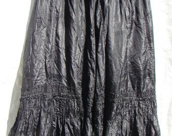 Authentic Victorian Black Silk Skirt