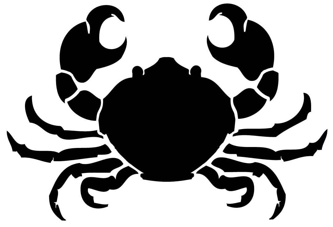 sealife09 reusable 7mil 017mm lasercut mylar stencil crab