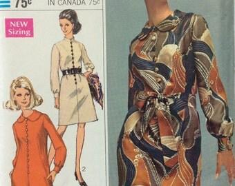 Simplicity 7803 vintage 1960's misses Designer Fashion dress sewing pattern size 18 bust 40  Uncut  Factory folds