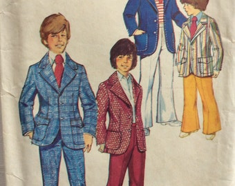 CLEARANCE!!  Simplicity 5548 boys suit jacket and pants size 4 vintage 1970's sewing pattern