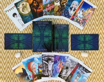 78 Tarot Carnival Deck - 78 Artists - 1 Epic Deck - Limited Edition - Indie Tarot Deck - Circus - Divination - 78Tarot