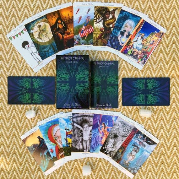78 Tarot Carnival Deck 78 Artists 1 Epic Deck Limited