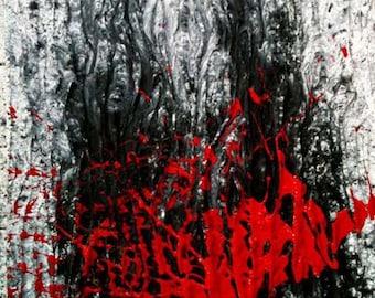 Original Abstract Mixed Media Painting, Ancient Mariner
