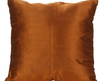 Set of 2 Solid Metallic Brown Pillow Cover Sham Covers Metallic Brown Accent Pillow 14x14 16x16 18x18 20x20 22x22 24x24 26x26