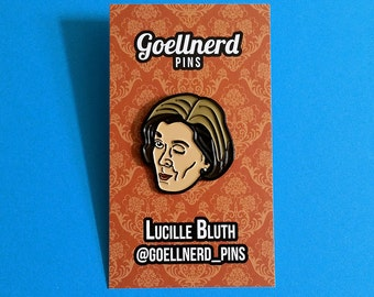 Arrested Development Lucille Bluth Wink Enamel Pin