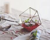 Geometric Glass Terrarium Container, Copper Planter, Mothers Day Gifts, Succulent Terrarium, Wedding Decor, Fairy Garden, Candle Holder