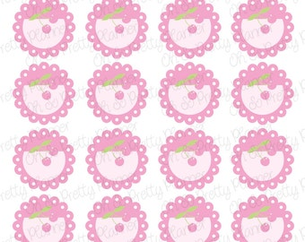Planner Stickers - Cheerful Cherry Scalloped Circles