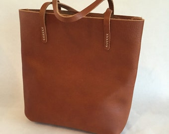 Leather tote bag - one of a kind