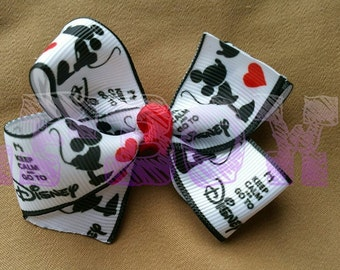Mickey and Minnie Hair Bow, A true love story