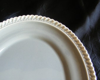 Vintage Grey Harkerware Platter Chesterton Harker Pottery Gray and White Dinnerware 11.75 Inches Made in East Liverpool Ohio USA ~ 6488c