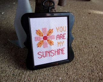 "Framed ""You Are My Sunshine"" Cross Stitch"