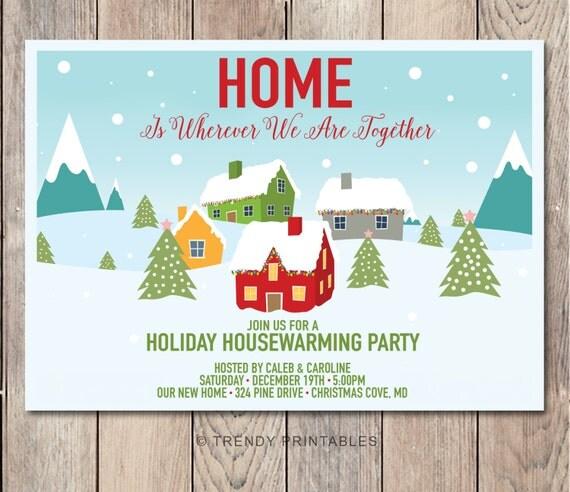 Christmas Housewarming Invitation Housewarming Invitation