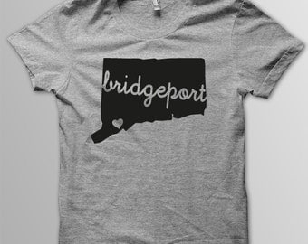 Custom CONNECTICUT Hometown American Apparel Tri blend Tshirt