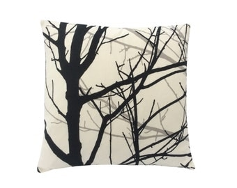 Beautiful Willow Tree Branches Cushion Cover/ Pillow case. Black Beige Ivory Grey made in Britain 100% Cotton. Home,Sofa,Kitchen,Bedroom.