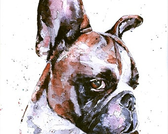 "Puppy Love"" Print Watercolour A3 (30*40cm/16*12 Inches)"