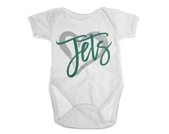 New York Jets Onesie Etsy