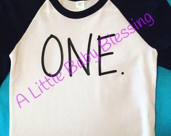 ONE birthday shirt boys or girls