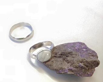Howlite Sterling Silver Ring
