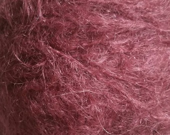 Designer Mohair Yarn (78%) Luxurious Mohair Double Knitting (light Worsted) 25g skein in Mulberry