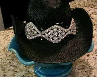 Black western cowgirl hat