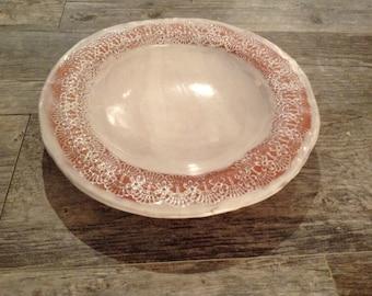 Terracotta Lace Bowl