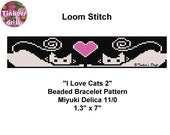 I Love Cats 2 Loom Beaded Bracelet Pattern
