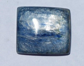 Unique Kyanite cabochon, Rectangular, Royal Blue, 27 x 24mm