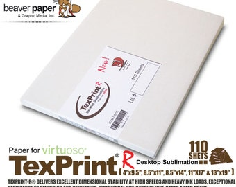 Sublimation Transfer Paper *** Texprint R *** Pack of 110 Sheets FREE shipping