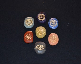 Hand-Carved Chakra Stones (Set of 7)