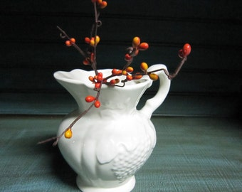 Vintage Ivory Ceramic Pitcher