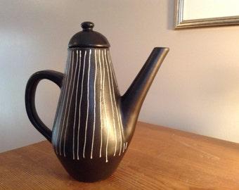 Vintage black & white coffee pot