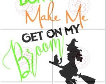 Witch SVG, Witch on a Broom SVG, Witch silhouette compatible, jpeg, pdf