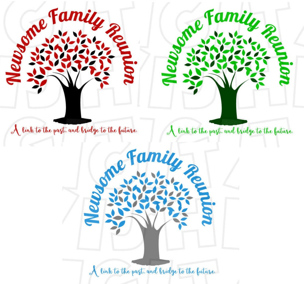 CHOOSE Your Color Family Reunion Tree Digital Iron On Transfer
