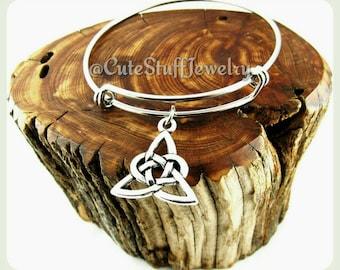 Triad Knot Bracelet, Triad Bangle, Triad Bracelet, Celtic Knot Bracelet, Celtic Knot Bangle, Charmed, Celtic Knot Jewelry, Trinity,