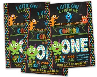 Printable Monster Birthday Invite - Monster Invitation - Little Monster Invitation - 1st 2nd 3rd 4th Any Age - First Birthday - Monsters