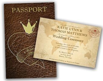 Passport invitation | Etsy