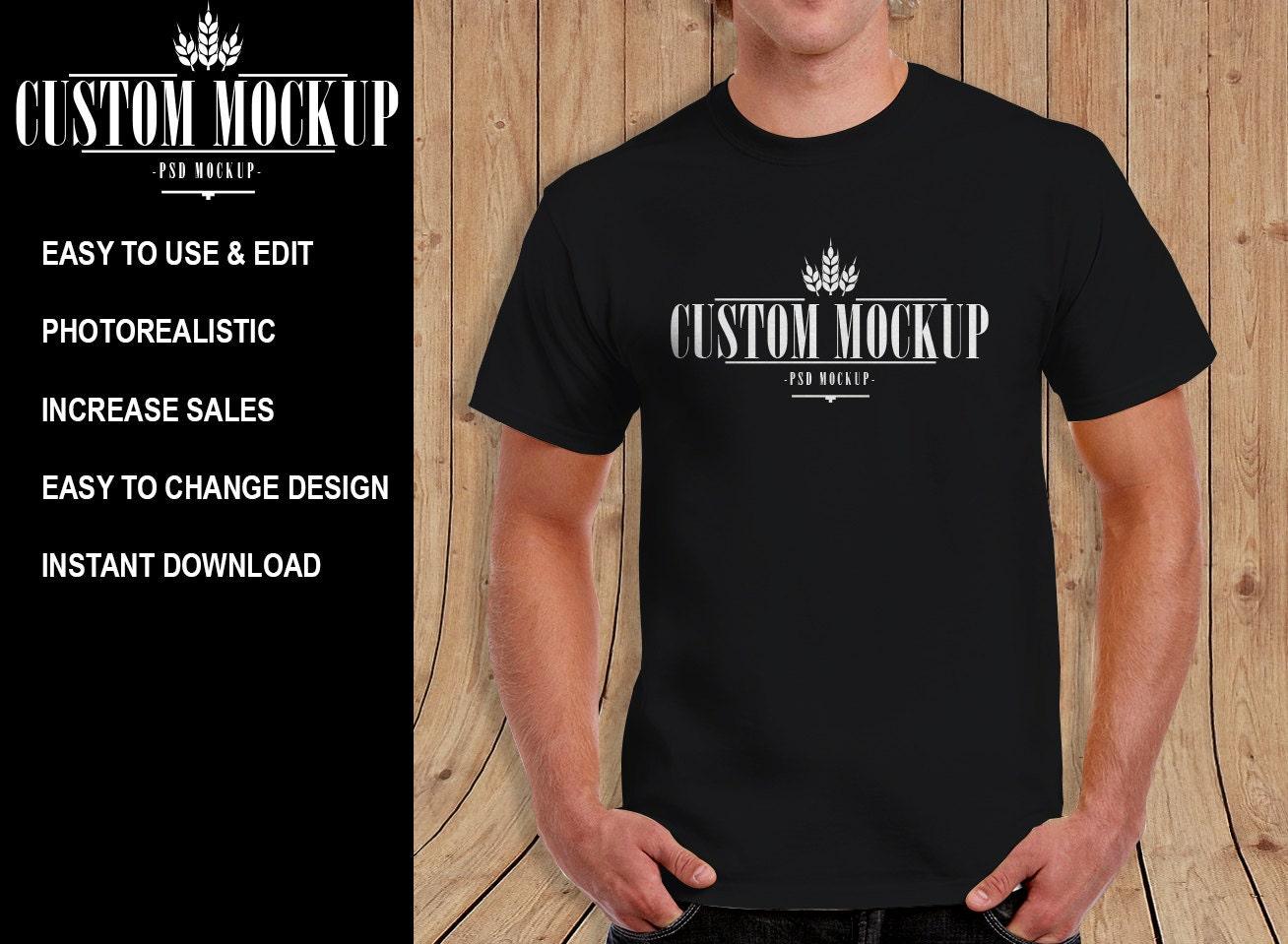 gildan 2000 tshirt mock up template unlimited color