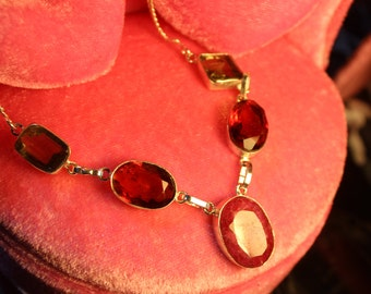 RUBY MULTI NECKLACE 925 sterling silver  16 in