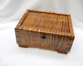 dyed curly maple keepsake box#213