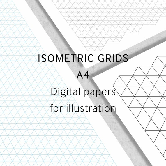 I Love Grids®Isometric Grid Paper A4 Digital Paper by ...