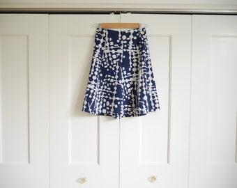 vintage navy skirt