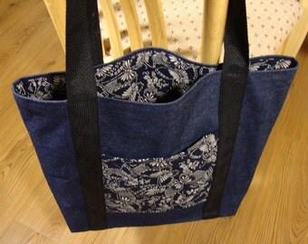 Denim Shopping Bag Market Bag Tote Bage Small Pet Carrier