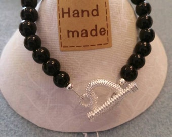 Lovely handmade toggle clasp bracelet