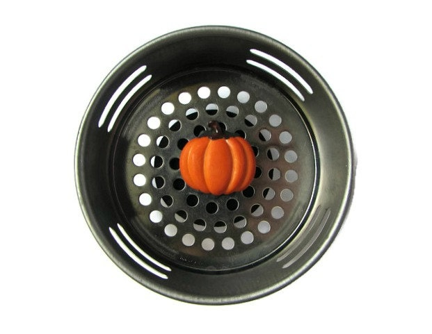 Sink strainer pumpkin decor fall decor autumn decor - Decorative kitchen sink strainers ...