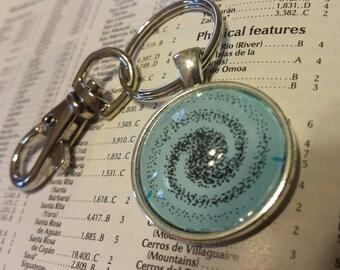 Black Swirl Keychain
