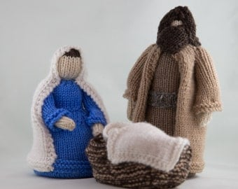 Knitted Nativity Set // Christmas