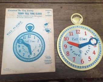 Vintage Terry Tell Time Children's Clock