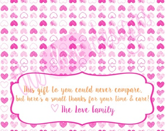 Thank You Nurse Gifts for Labor & Delivery- PRINTABLE