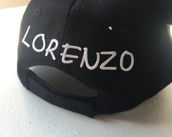 Customizable Cap With Embroidery Look Lettering IRONED ON